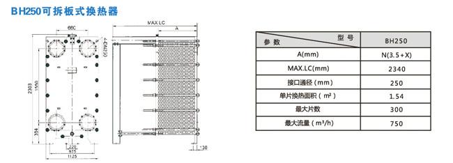 可拆板式换热器尺寸
