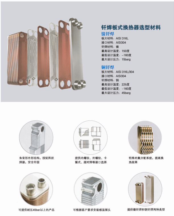 钎焊板式换热器配置